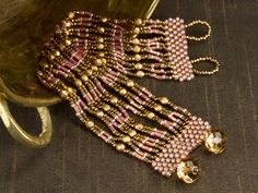 Alexandria Bracelet - very flexible design  ~ Seed Bead Tutorials