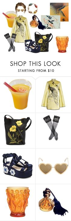"""starlet flower"" by phanata ❤ liked on Polyvore featuring Attico, STELLA McCARTNEY, La Perla, Prada, Markus Lupfer, Lalique, tumblr, ootd, Elegant and aesthetic"