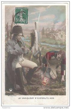 """Carte Postale Ancienne """"LE VAINQUEUR D'AUSTERLITZ 1805"""" Photographe ARJALEW France 1908."""