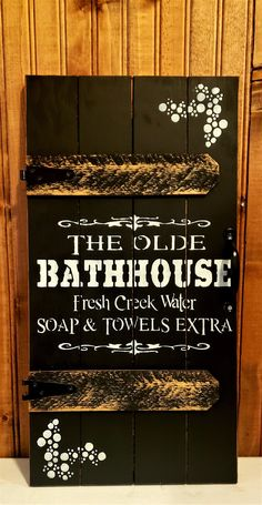 Bath Sign, Primitive Wood Signs, Holiday Time, Bath Decor, Made Of Wood, Door Signs, Projects To Try, Doors, Rustic