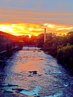 Sunset over the Sugar River in New Hampshire