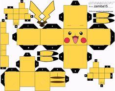 Pikachu Cubeecraft by zamiba15.deviantart.com on @deviantART