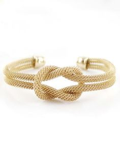 Gold Double Layers Twine Bracelet