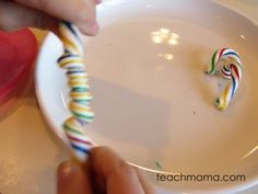 candy cane experiments Christmas Candy, Holiday Fun, Christmas Holidays, Candy Experiments, Interesting Information, Toddler Fun, Early Childhood Education, Candy Cane, Diy Crafts
