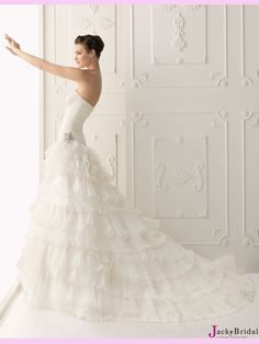 White A Line Sweetheart Tulle #Wedding #Dress  www.finditforweddings.com