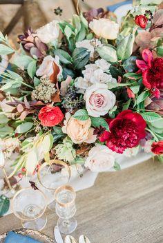 Denver Colorado wedding venue - Villa Parker - wedding flowers, centerpiece