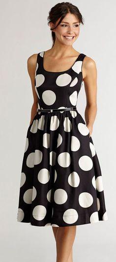 polka dots #dress #clothing