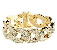 Melania Limited Edition Pave Style Curb Link 8 Bracelet
