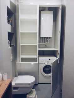 einbauschrank f r waschmaschine und w schetrockner. Black Bedroom Furniture Sets. Home Design Ideas