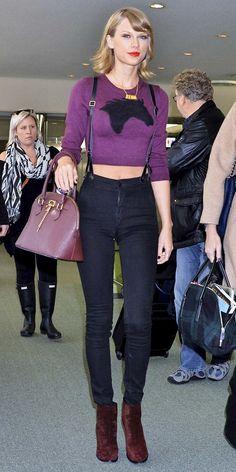 Taylor Swift suspenders airport