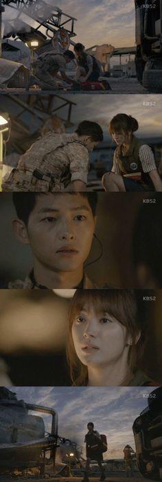 Spoiler Added Episode  Captures For The Korean Drama Descendants Of The Sun