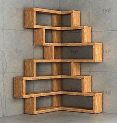 wood corner shelf ideas 1
