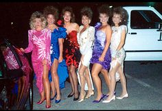 80s prom.  Satin pumps dyed to match