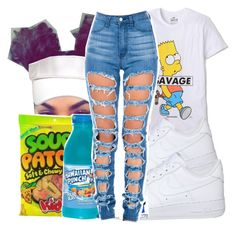 A fashion look from May 2016 featuring tee-shirt, high rise jeans and nike trainers. Browse and shop related looks. Lit Outfits, Swag Outfits For Girls, Cute Outfits For School, Teenage Girl Outfits, Cute Swag Outfits, Teenager Outfits, Dope Outfits, Teen Fashion Outfits, Cute Fashion