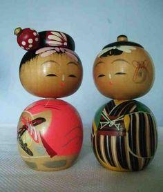 Japanese Kokeshi Dolls  vintage?