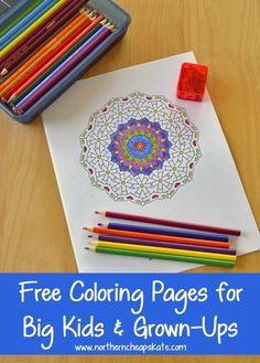 Free Printable Coloring Pages for Big Kids and Grown-Ups Coloring isn't just for kids! It's a great stress reliever! Check out this collection of coloring pages for adults and teens. Free Printable Coloring Pages, Free Coloring Pages, Free Printables, Coloring Books, Fairy Coloring, Kids Coloring, Big Kids, Art For Kids, Crafts For Kids