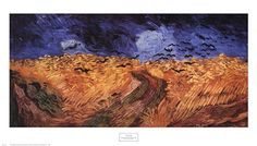 Wheatfield with Crows, c.1890 by Vincent Van Gogh art print
