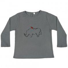 Petit Produit - T-shirt Tino gris en coton bio