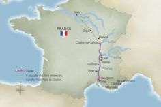 Portraits of Southern France River Cruises Map