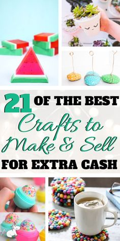 21 Amazing Crafts To Make and Sell For Extra Cash! If you have and online craft . - 21 Amazing Crafts To Make and Sell For Extra Cash! If you have and online craft business or are loo - Easy Crafts For Teens, Easy Crafts To Sell, Money Making Crafts, Sell Diy, Crafts Cheap, Quick And Easy Crafts, Make To Sell, Diy Gifts To Sell, Diy For Teens