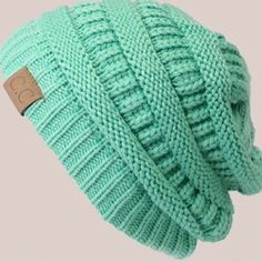 CC Knit Beanie New (Mint) Brand new CC beanies. Chose your color! Accessories Hats