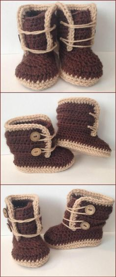 Crochet High Ankle 6 Month Baby Shoes - Top 40 Free Crochet Baby Booties Patterns