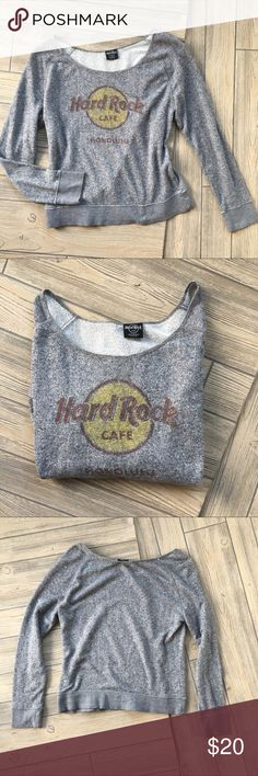 Hard Rock Cafe Sweatshirt Pullover Size Small/Med Hard Rock Cafe Sweatshirt Pullover Size Small/Medium. Great condition Sweaters