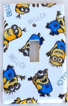 Minion Wall Decor minions despicable me 2 removable wall stickers decal kids bedroom