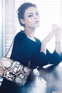 Mila Kunis for Dior. She's gorgeous, but I don't think she's right for this campaign.