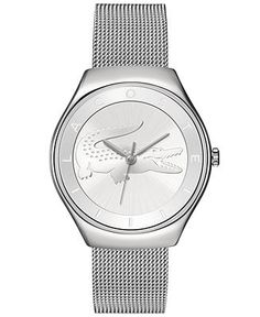 Lacoste Watch, Women's Valencia Stainless Steel Mesh Bracelet 38mm 2000764 - Watches - Jewelry & Watches - Macy's