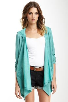 Open Cardigan Hoodie. So cute with leggings and riding boots for a quick comfy and cute look for classes