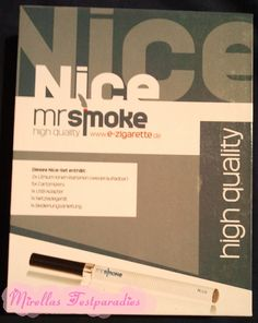 My sister tested the electric cigarette from Mr. Smoke called Nice.