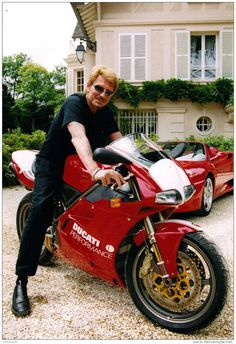 toutes les motos de johnny (Halliday), French singer and actor Ducati Superbike, Ducati Multistrada, Ducati Motorcycles, Johnny Haliday, Nicky Hayden, Jean Philippe, Serge Gainsbourg, Bike Rider, Ducati Monster