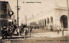 MercadoElParián, en la ciudad de Aguascalientes (ca. 1905).