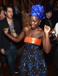 """Lupita Nyong'o at the world premiere of Disney's """"Queen of Katwe"""" at Roy Thompson Hall as part of the 2016 Toronto Film Festival where the cast, filmmakers and real life stars received a standing ovation."""