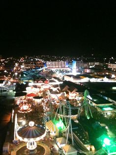 View from atop the ferris wheel Wildwood, NJ