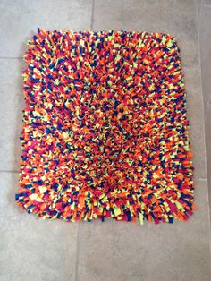 T-Shirt Rug, Rugs, T-Shirt, Latch Hook Rug, Latch Hook, Handmade Rug, Shag Rug, Multi Color Rug