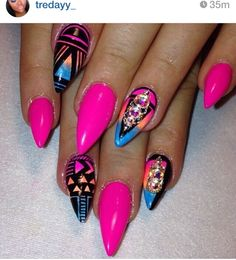 Stiletto nails at its finest !