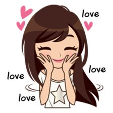 Alice All Star Premium sticker Love Cartoon Couple, Cute Cartoon Girl, Cute Love Cartoons, Cute Couple Quotes, Cute Love Pictures, Cute Cartoon Pictures, Monday Morning Quotes, Cute Cartoon Characters, Digital Art Girl