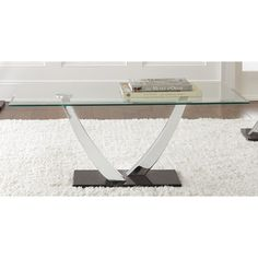 Greyson Living Kendal Chrome and Glass Coffee Table