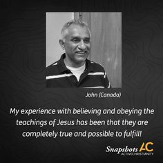 """""""My experience with believing and obeying the teachings of Jesus has been that they are completely true and possible to fulfill! While this can be said of every aspect of my life, for me this especially applies to the wretched sin of anger, which has characterized my family for generations.  My experience can be described by Psalm 126. When I came to faith in victory over sin, the hope that I could be totally freed from anger was like the promise of being led out of captivity. I am now like…"""