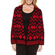 jcpenney.com   Alfred Dunner Tis The Season 3/4 Sleeve Cardigan