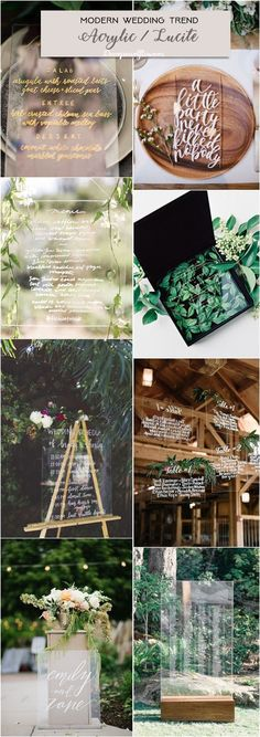Acrylic wedding decor ideas for modern wedding / http://www.deerpearlflowers.com/modern-wedding-theme-ideas/