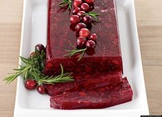 The Food Of Downton Abbey Jellied Cranberry Sauce With Fuji Apple.