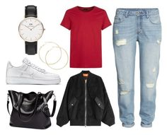 Untitled #4 by carolineaplum on Polyvore featuring polyvore, мода, style, Alexander Wang, H&M, NIKE, Daniel Wellington, J.Lindeberg, fashion and clothing
