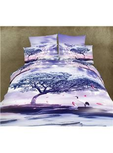 deny designs amy sia isla floral purple duvet cover 80 liked on polyvore featuring home bed u0026 bath bedding duvet covers beddiu2026