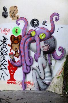 Street art by Seth Globepainter (aka Julien Malland) - Paris