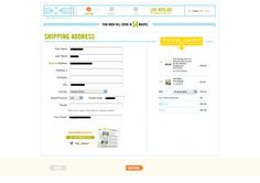 20x200 Cart: Step 5: Billing & Shipping, maintaining context (what am i buying?  oh yeah...that stuff on the right) #ecommerce