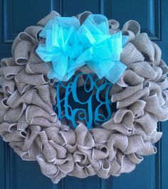 3 Letter Monogram Wreath by tiffanynewcomb on Etsy, $68.00
