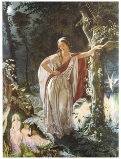 A Midsummer Night's Dream - Hermia and the Fairies (Shakespeare Performing Arts Art Prints) Shakespeare Characters, Fairy Paintings, Vintage Paintings, Medieval Paintings, Guache, Pre Raphaelite, Midsummer Nights Dream, Fairy Art, Dragons